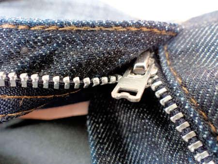 cleave: the open zipper pants. open pants Stock Photo