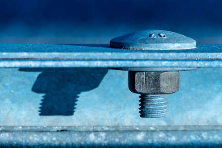 technically: hex bolt and nut, connection icon, reliability, cooperation