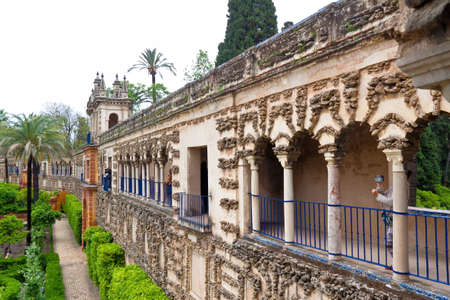 alcazar: spain, andalusia. the alcazar in seville is one of the landmarks of the city