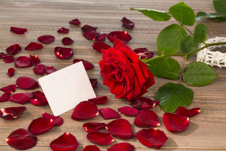 roses as a gift and surprise to a feast. photo icon for birthday, Stock Photo