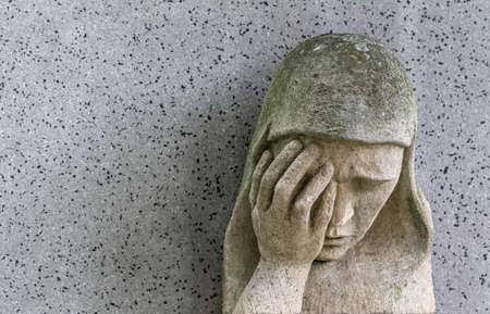 memoirs: a sad madonna to barbara cemetery in linz, austria
