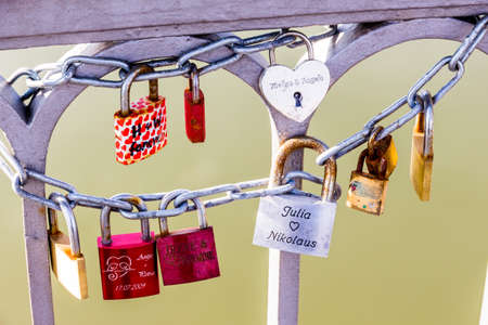 padlocks as a symbol of love, loyalty, partnership, romance photo