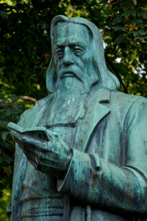 informing: Statue of stelzhammer, symbol of education, history, knowledge
