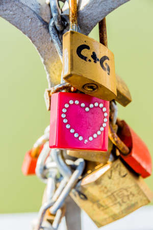 self contained: Padlocks as a symbol of love, loyalty, partnership, romance