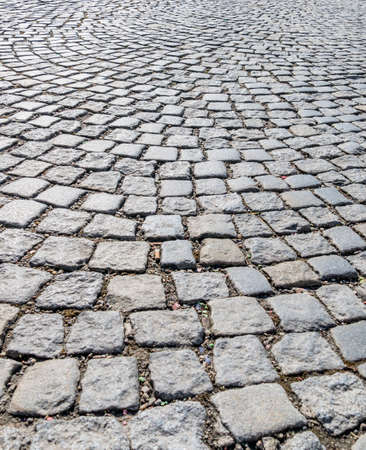 infrastructures: Pavers in pedestrian symbol for road construction, structure