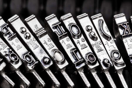illiteracy: type an old typewriter. symbolic photo for communication in former times Stock Photo