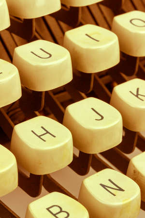 illiteracy: an old typewriter keyboard. symbolic photo for communication in former times