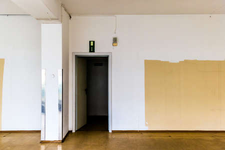doldrums: vacant business waiting for a tenant. loading is empty because the economic crisis Stock Photo