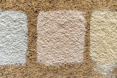 renovate old building facade: masonry white shading, symbol for background, pattern and color facade renovation,