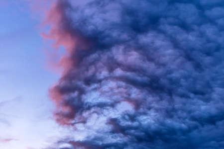 transcendent: blue clouds in the sky, symbol of dreams, transcendence, meditation, imagination, background