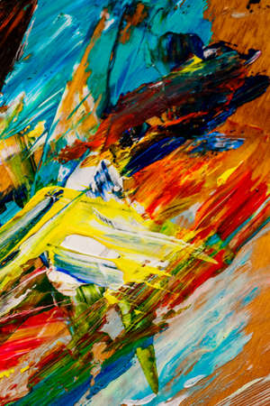 gamut: color colorful easel, a symbol of art, creativity, chaos Stock Photo