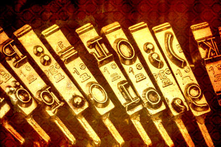 grope: keys of an old typewriter. symbolic photo for communication in former times