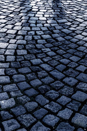 hardness: cobbled up, icon background, texture, pedestrian Stock Photo