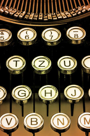 grope: an old typewriter keyboard. symbolic photo for communication in former times