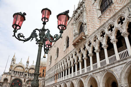 st  mark's square: the famous st. marks square in venice, italy, europe
