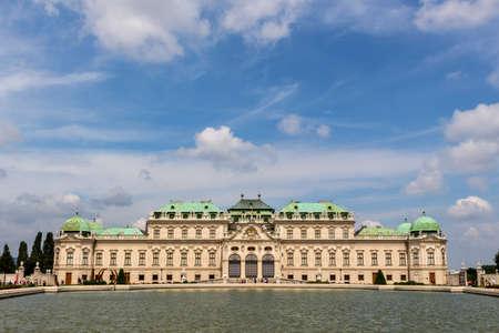 lucas: the belvedere palace in vienna, austria. architecture by johann lucas von hildebrandt Editorial
