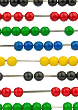 mathematically: abacus with colored beads, symbolic photograph of finance, costing and accounting Stock Photo