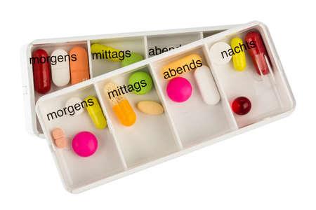 dosage: tablet dispenser, symbolfoto for therapy, regulation and dosage