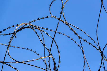 remand: a plot of land is covered with barbed wire