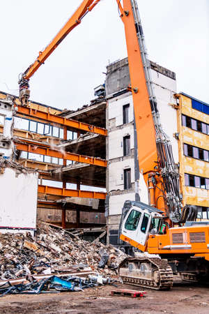 condemned: one older office building will be demolished to make way for a new building