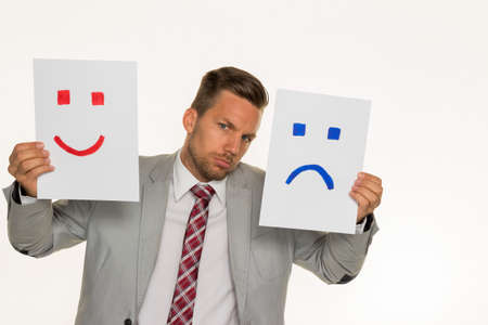 decide: a manager or entrepreneur can not decide if he should laugh or cry