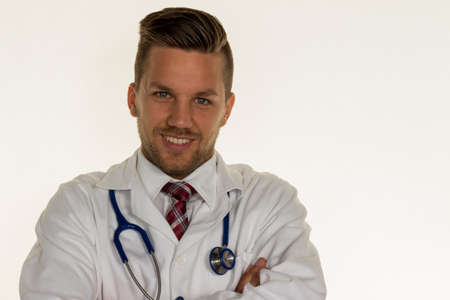 familiy: a young doctor with stethoscope