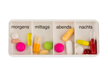dosage: Tablet dispenser, symbol for therapy, regulation and dosage