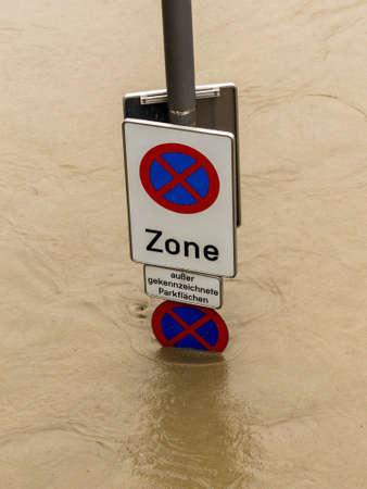 linz: floods 2013. linz, austria. overflows and flooding