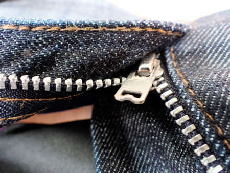 cleave: the open zipper pants. opened pants Stock Photo