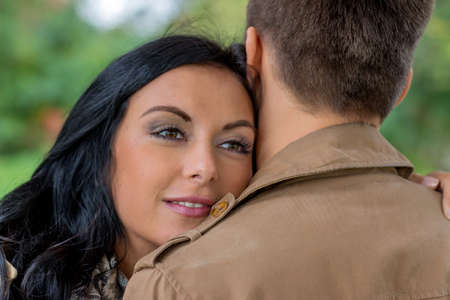 vivre: a young,   couple in a park Stock Photo