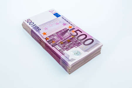 assessment system: many five hundred euro banknotes. symbolic photo for wealth and investment