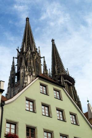 regensburg: germany, bavaria, regensburg. cathedral Stock Photo