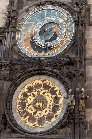 astronomic: prague, czech republic. the astronomical clock on the old town