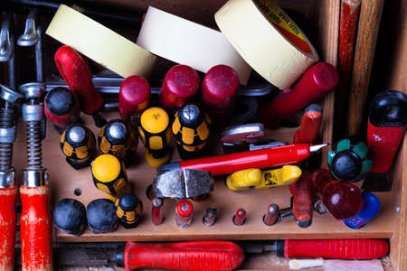 close range: the tool case of a craftsman in the open state.