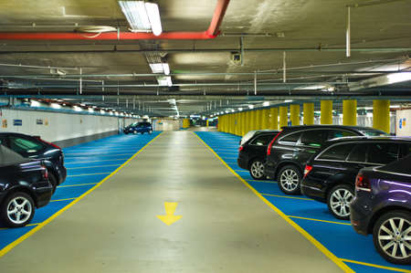car park: underground, symbolfoto for parking space in the city
