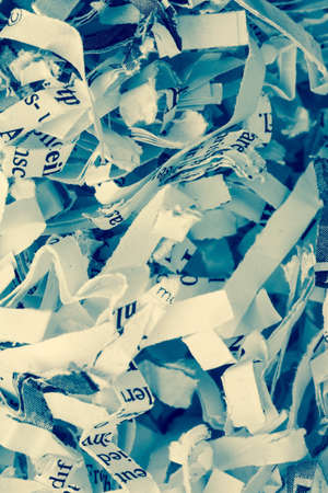 legacy: shredded paper, symbol photo for data destruction, documentation and legacy data