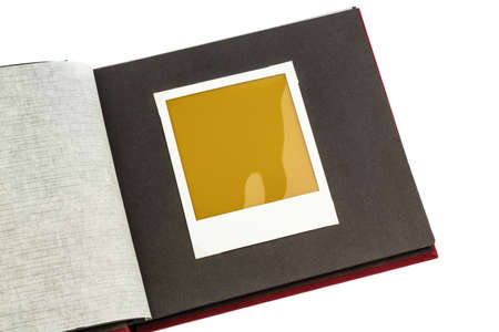 comparable: album against white background, symbol photo for memories and documentation