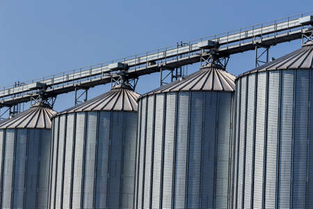 silos: silos for agricultural goods in a warehouse