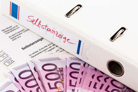 tratados: foto simb�lica para una divulgaci�n voluntaria por evasi�n de impuestos en la oficina de impuestos en Austria