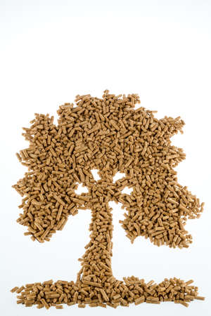 energies: symbolfoto tree pellets for heating and heat from alternative, renewable energies.