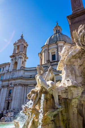 dei: italy, rome. piazza navona. four rivers fountain. fontana dei quattro fiumu