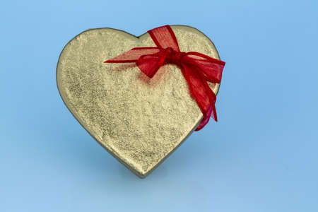 cordially: a box for a gift in the form of a heart. photo icon for valentines day, anniversary, engagement.