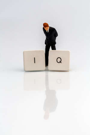 memoirs: the letters iq as a symbol photo for intelligence quotient.