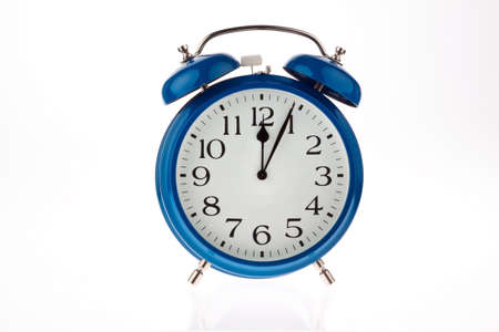 ultimatum: 11:55 on a clock. time for decisions Stock Photo