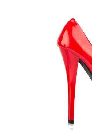 Rode hoge hakken, symboolfoto voor erotiek Stockfoto - 46712591