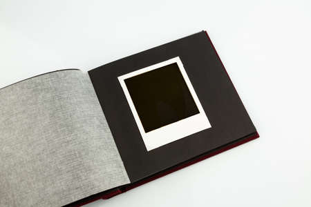 documented: photo album against white background, symbol photo for memories and archiving Stock Photo