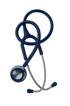 physicans: stethoscope against white background, symbol photo for the medical profession and diagnosis Stock Photo