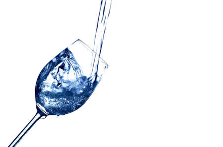 quencher: pure and clean water is filled into a glass. drinking water, water glass, glass, dehydration, dehydrated, dehydration in a teacup.