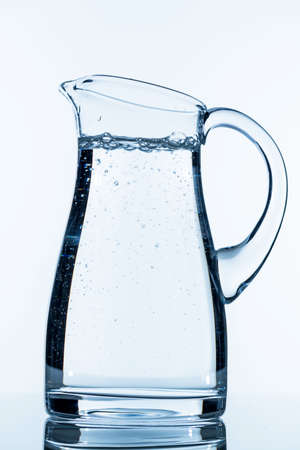 clear water: pitcher of water, symbol photo for drinking water, refreshments, supplies and consumables