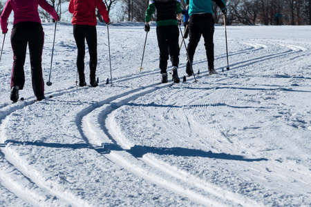 crosscountry: winter sports cross-country skiing, icon sports, winter holidays, leisure, activity